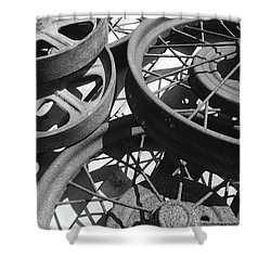 Wheels Of Time Shower Curtain by Tim Good
