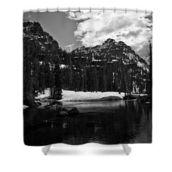 Whelp Lake, Mission Mountains Shower Curtain