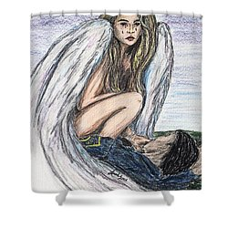 When Angels Cry Shower Curtain