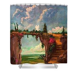 When Angels Garden In Heaven Shower Curtain