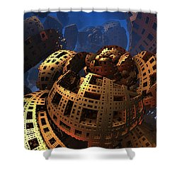 Shower Curtain featuring the digital art When Black Friday Comes by Lyle Hatch