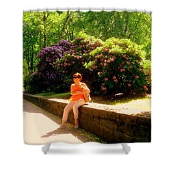 When Blooming Lilacs Shower Curtain