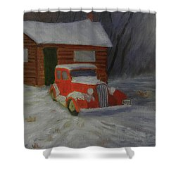 When Cars Were Big And Homes Were Small Shower Curtain