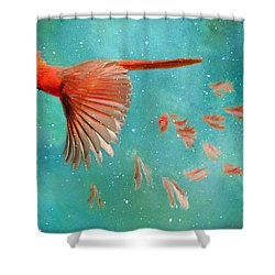 When Feathers Fly II Shower Curtain