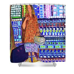 Shower Curtain featuring the painting When I Was Cool by Donna Howard