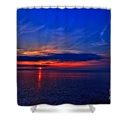 Shower Curtain featuring the photograph When I'm Feeling Blue by Baggieoldboy