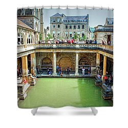Shower Curtain featuring the photograph When In Rome by Wallaroo Images