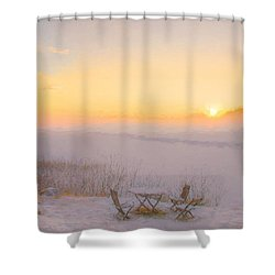 Shower Curtain featuring the painting When Joy Fills The Heart by Rose-Maries Pictures