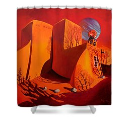 Shower Curtain featuring the painting When Jupiter Aligns With Mars by Art West