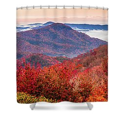 Shower Curtain featuring the photograph When Mountains Sing by Karen Wiles
