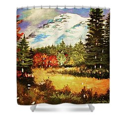 When Nature Exploits Her Colors Shower Curtain