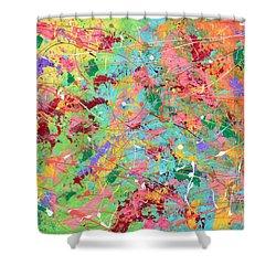 When Pollock Was Happy Shower Curtain