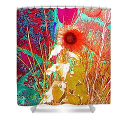 When Sunflowers Dream Shower Curtain