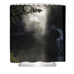 Shower Curtain featuring the photograph When Sunlight And Water Spray Meet 03 by Arik Baltinester
