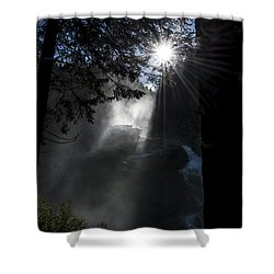 Shower Curtain featuring the photograph When Sunlight And Water Spray Meet 05 by Arik Baltinester