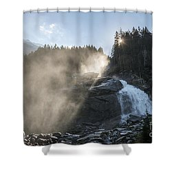 Shower Curtain featuring the photograph When Sunlight And Water Spray Meet 10 by Arik Baltinester