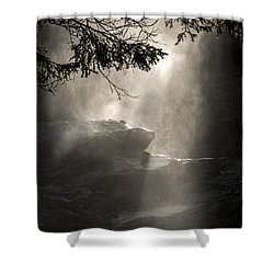 Shower Curtain featuring the photograph When Sunlight And Water Spray Meet by Arik Baltinester