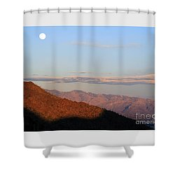 When The Mountains Turn Pink... Shower Curtain