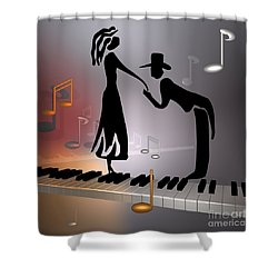 When The Music ... Shower Curtain