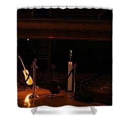 When The Ryman Sleeps Shower Curtain by John Black