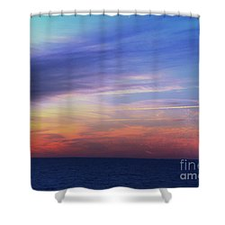 When The Sun Kissed The Sky  Shower Curtain