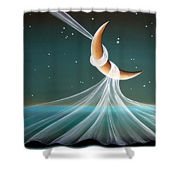 When The Wind Blows Shower Curtain