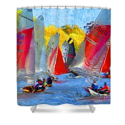 Shower Curtain featuring the photograph When The Wind Blows by LemonArt Photography