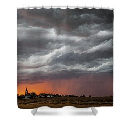 When Trouble Rises.....  Shower Curtain by Shirley Heier