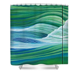 When We Met    Shower Curtain by Brian  Commerford