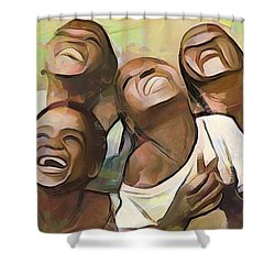 When We Were Boys Shower Curtain by Wayne Pascall