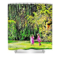 When We Were Young II Shower Curtain