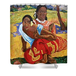 Shower Curtain featuring the painting When Will You Marry? by Tom Roderick