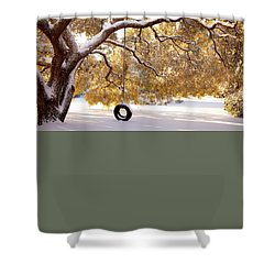 Shower Curtain featuring the photograph When Winter Blooms by Karen Wiles