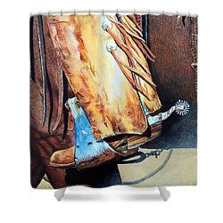 When Work Is Play Shower Curtain