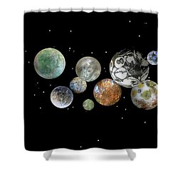 When Worlds Collide Shower Curtain