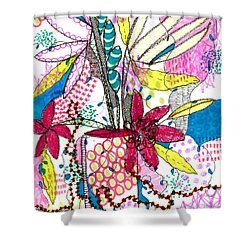 Where Did You Put My Cup? Shower Curtain by Lisa Noneman