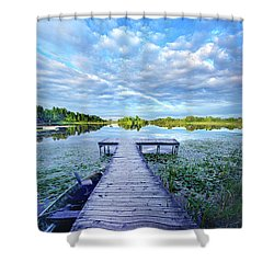 Where Dreams Are Dreamt Shower Curtain by Phil Koch