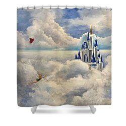 Where Dreams Come True Shower Curtain