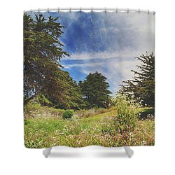 Where Fairies Play Shower Curtain by Laurie Search