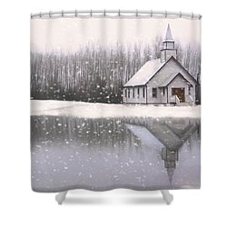 Where Hope Grows - Hope Valley Art Shower Curtain by Jordan Blackstone