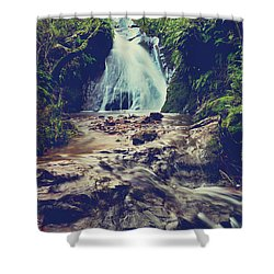 Where It All Begins Shower Curtain by Laurie Search