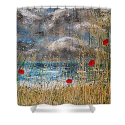 Where Poppies Blow Detail Shower Curtain