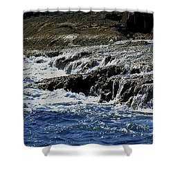 Where Sea And Shore Become One Shower Curtain by DigiArt Diaries by Vicky B Fuller