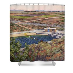 Where The Aqueduct Goes Underground Shower Curtain