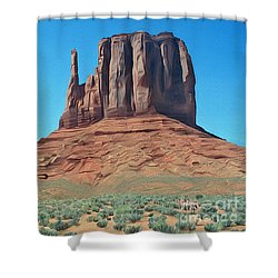 Where The Deer And The Antilope Play Shower Curtain by Walter Colvin
