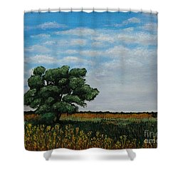 Where The Fields Meet Shower Curtain