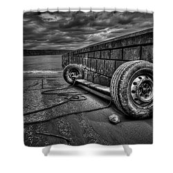 Where The Roads End... Shower Curtain by Evelina Kremsdorf