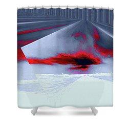 Where The Sky Bends Shower Curtain by Aliceann Carlton