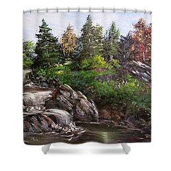 Where The Water Flows Shower Curtain