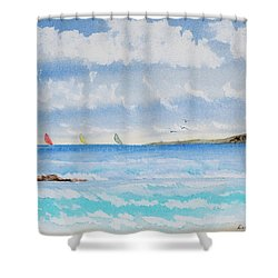 Where There's A Wind, There's A Race Shower Curtain